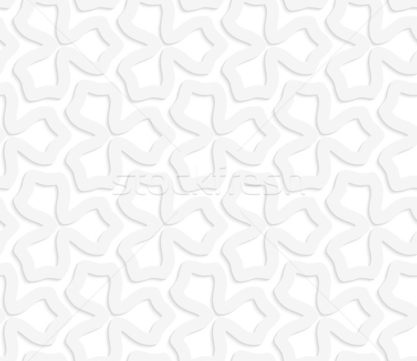 3D белый аннотация три цветок бесшовный Сток-фото © Zebra-Finch