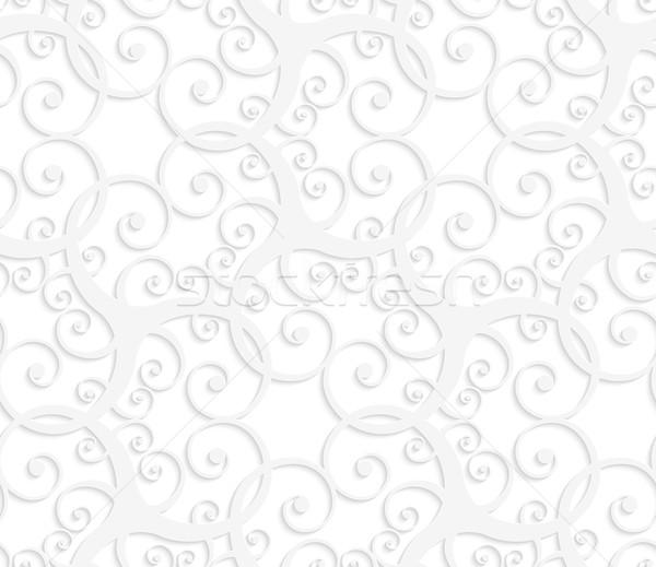 3D beyaz ince süs Stok fotoğraf © Zebra-Finch