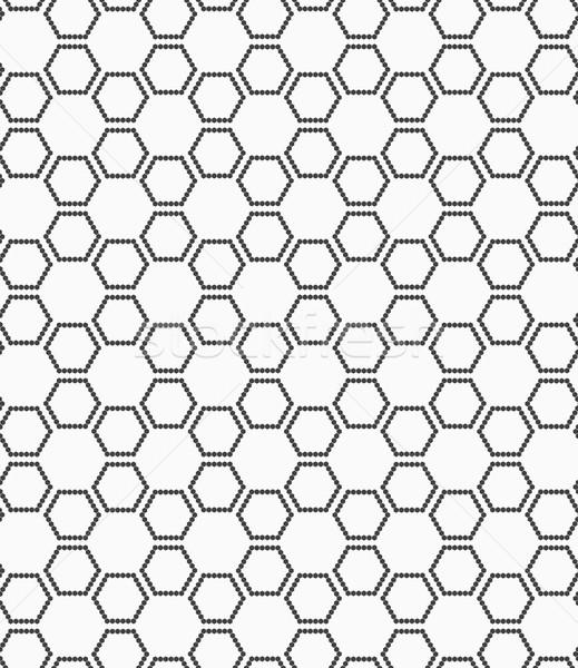 Flat gray with hexagonal stars Stock photo © Zebra-Finch