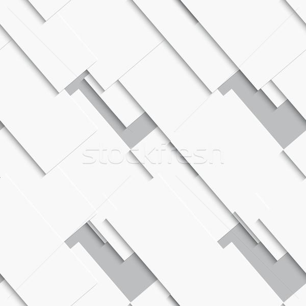 Fehér kártyák átló végtelenített absztrakt szürke Stock fotó © Zebra-Finch