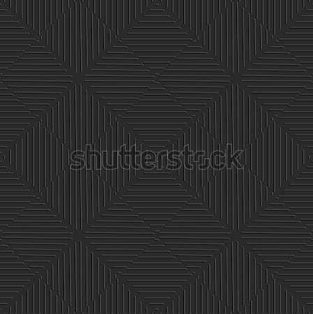 Seamless embossed  lines black Stock photo © Zebra-Finch