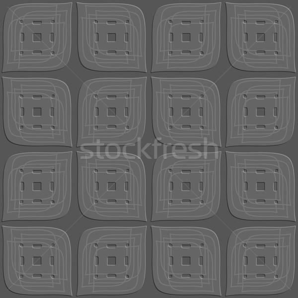 Dark gray perforated leaves embossed seamless Stock photo © Zebra-Finch