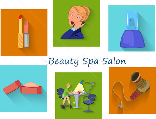 Beauty spa salon squares Stock photo © Zebra-Finch