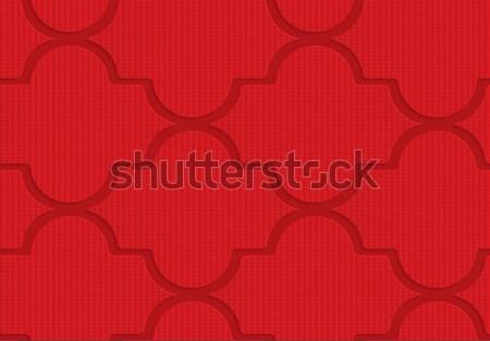 Rojo geométrico 3D Foto stock © Zebra-Finch