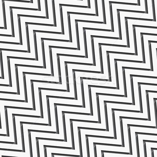 Sem costura ziguezague grande longo sombra Foto stock © Zebra-Finch