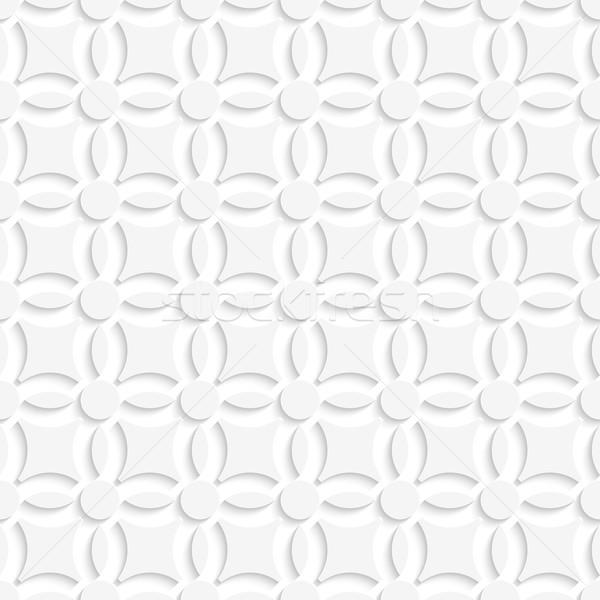 Simple geometrical white seamless Stock photo © Zebra-Finch