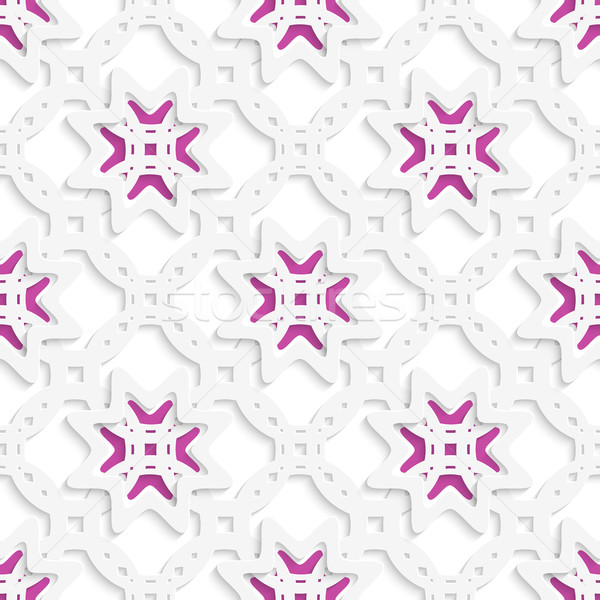 White perforated ornament layered with stars seamless Stock photo © Zebra-Finch