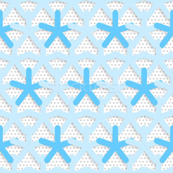 Kék 3D net mintázott fehér szürke Stock fotó © Zebra-Finch
