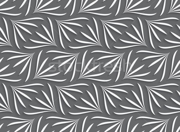 Сток-фото: орнамент · белый · геометрический · цветочный · серый