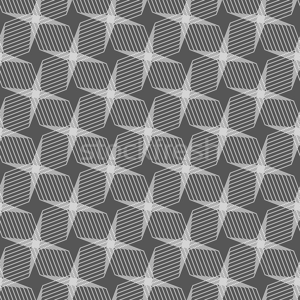 Monochrome pattern with light gray intersecting thin lines formi Stock photo © Zebra-Finch