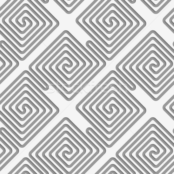 Perforated square diagonal spirals Stock photo © Zebra-Finch