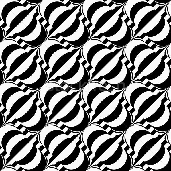 Blanco negro diagonal elegante geométrico moderna Foto stock © Zebra-Finch