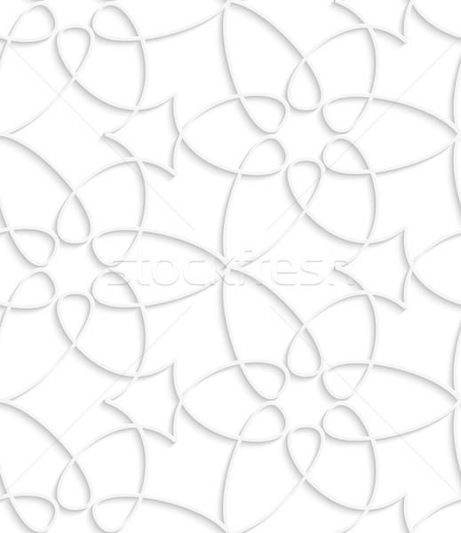 Bianco turbinio abstract 3D geometrica Foto d'archivio © Zebra-Finch