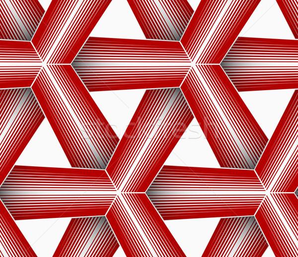 3D vermelho listrado grade sem costura Foto stock © Zebra-Finch