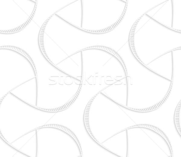 3D white triangular with striped offset Stock photo © Zebra-Finch