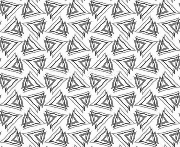 Flat gray with interlocking triangles Stock photo © Zebra-Finch