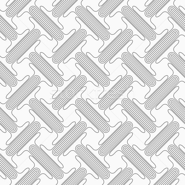 グレー ダブル スタイリッシュ 幾何学的な 現代 ストックフォト © Zebra-Finch