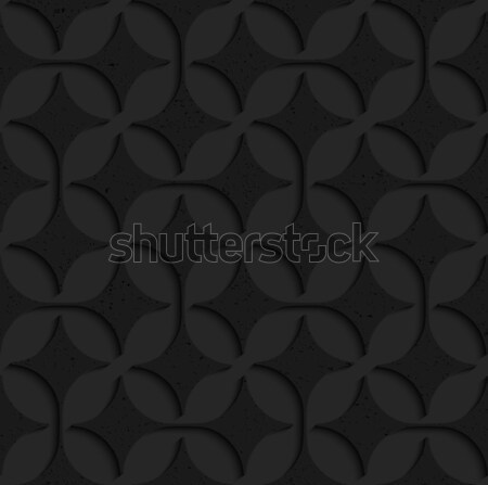 Black textured plastic pointy four foils Stock photo © Zebra-Finch