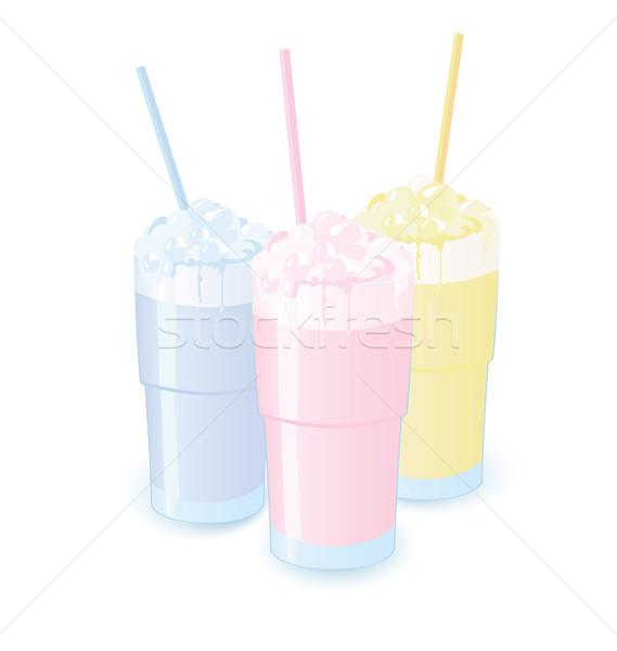 Stock photo: Milkshakes vector illustration