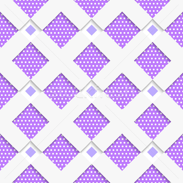White geometrical ornament with white net and dots purple textur Stock photo © Zebra-Finch