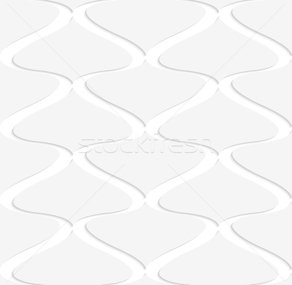 Papír kivágás függőleges pikk fehér szürke kivágás Stock fotó © Zebra-Finch