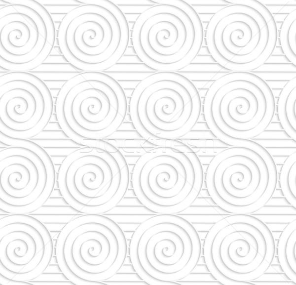 Paper white merging spirals on stripes Stock photo © Zebra-Finch