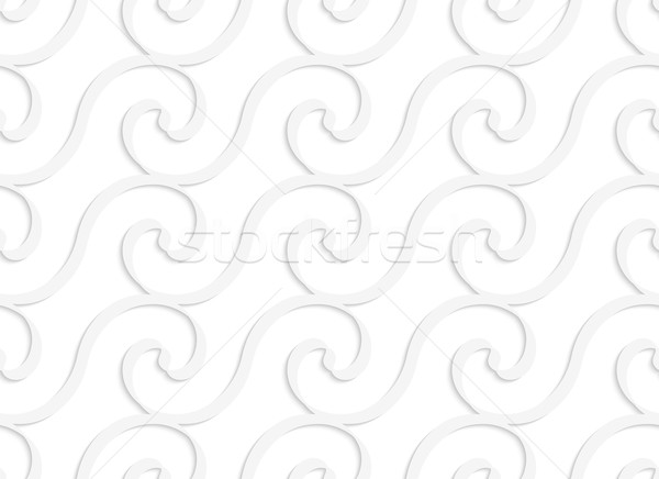 Paper white solid spiral waves Stock photo © Zebra-Finch
