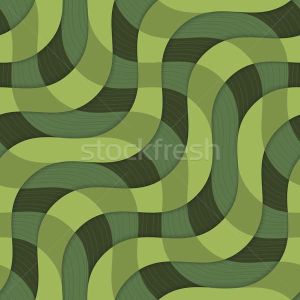 Retro 3D yeşil dalgalar doku Stok fotoğraf © Zebra-Finch