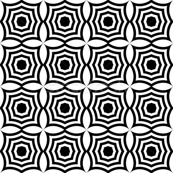 Feketefehér négyzetek elegáns mértani modern absztrakt Stock fotó © Zebra-Finch