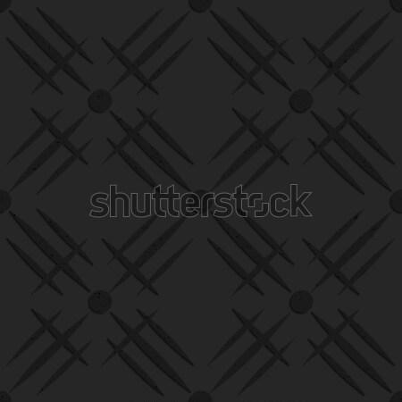 Fekete mintázott műanyag hálózat absztrakt mértani Stock fotó © Zebra-Finch