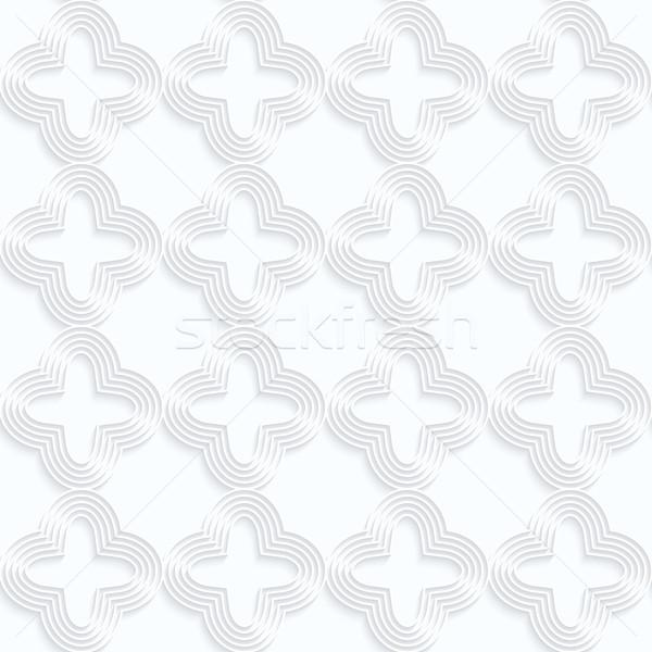 Beyaz kâğıt çizgili dört geometrik Stok fotoğraf © Zebra-Finch