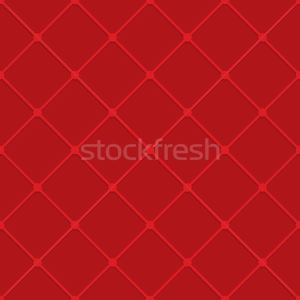Rosso griglia geometrica 3D Foto d'archivio © Zebra-Finch