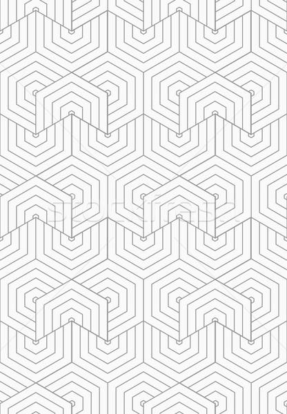 Ince gri çevirmek şık geometrik modern Stok fotoğraf © Zebra-Finch