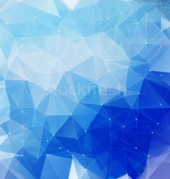 Stockfoto: Blauw · mozaiek · net · moderne · meetkundig · abstract