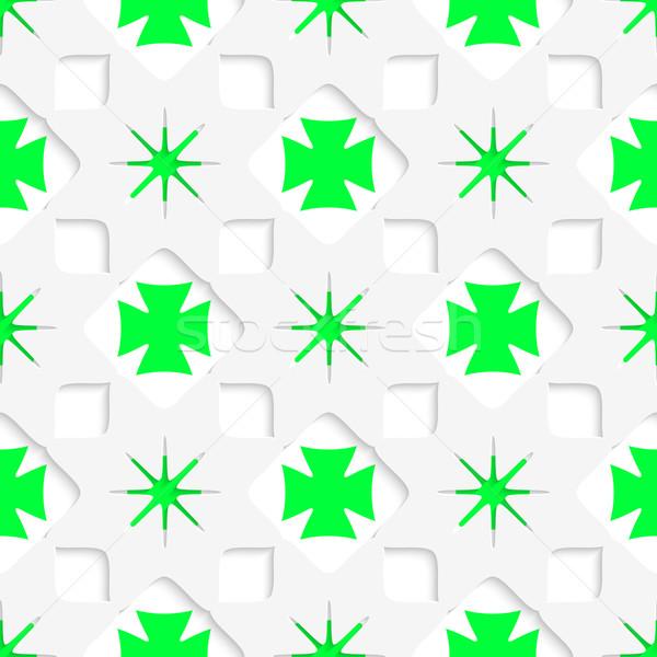 白 星 緑 インナー シームレス ストックフォト © Zebra-Finch