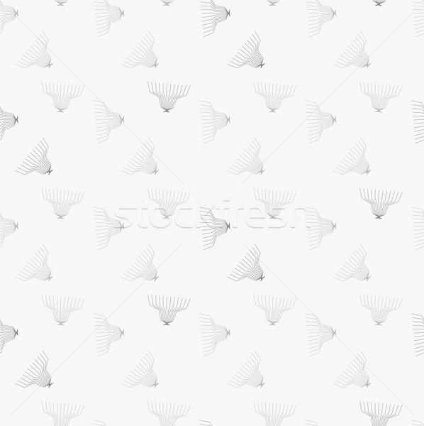 серый орнамент бесшовный геометрический современных Сток-фото © Zebra-Finch