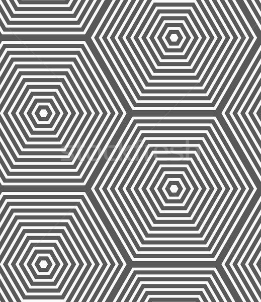 Monochrome striped hexagons Stock photo © Zebra-Finch