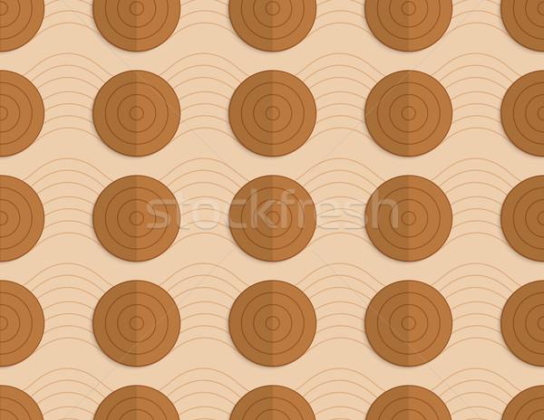 Retro fold brown circles on bulging waves Stock photo © Zebra-Finch