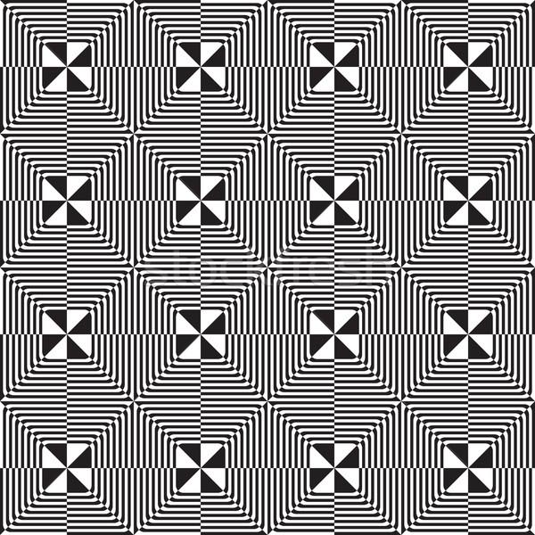 Preto e branco oito cortar elegante geométrico Foto stock © Zebra-Finch