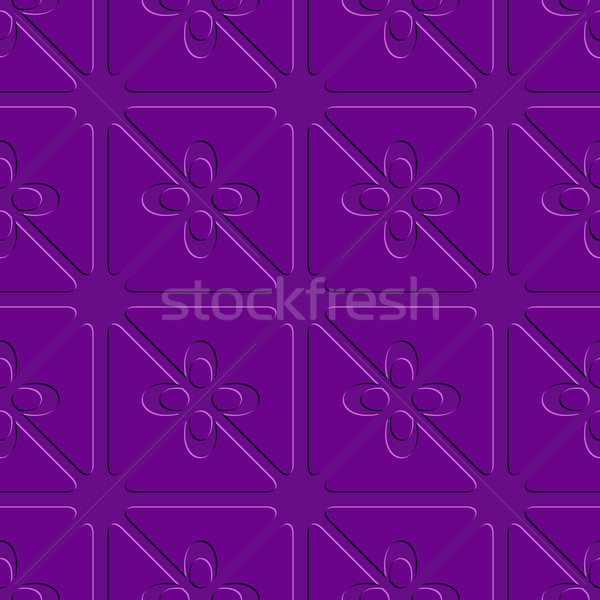 Embossed purple flourish simple pattern Stock photo © Zebra-Finch