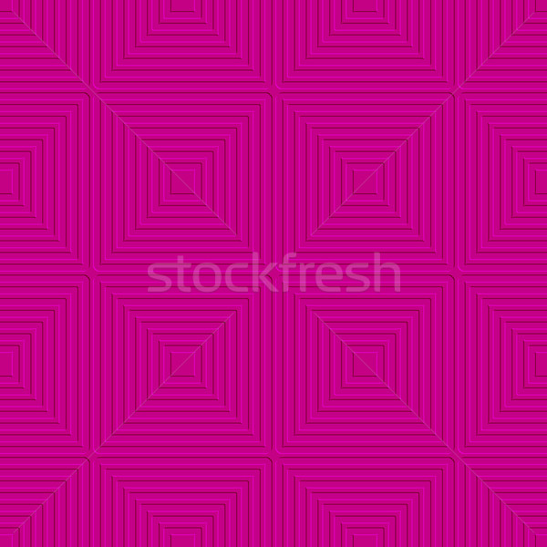 Pink offset squares embossed tile ornament Stock photo © Zebra-Finch