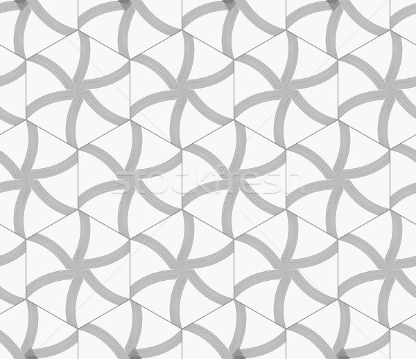 Repeating ornament gray hexagons with lines Stock photo © Zebra-Finch