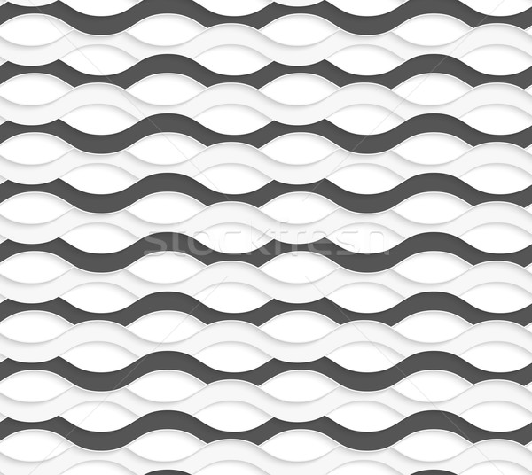 3D overlapping black and white waves Stock photo © Zebra-Finch