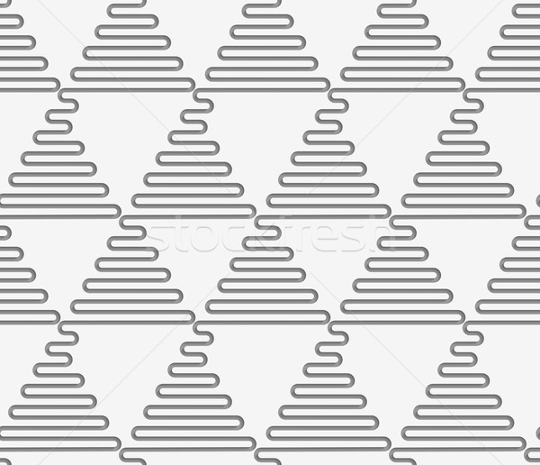 Perforated wavy triangles in rows Stock photo © Zebra-Finch
