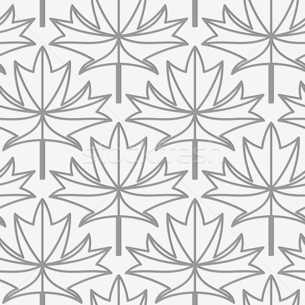 клен листьев вены геометрический современных монохромный Сток-фото © Zebra-Finch