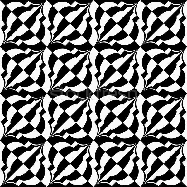 черно белые диагональ геометрический современных Сток-фото © Zebra-Finch