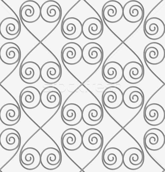 Perforated swirly hearts in turn Stock photo © Zebra-Finch