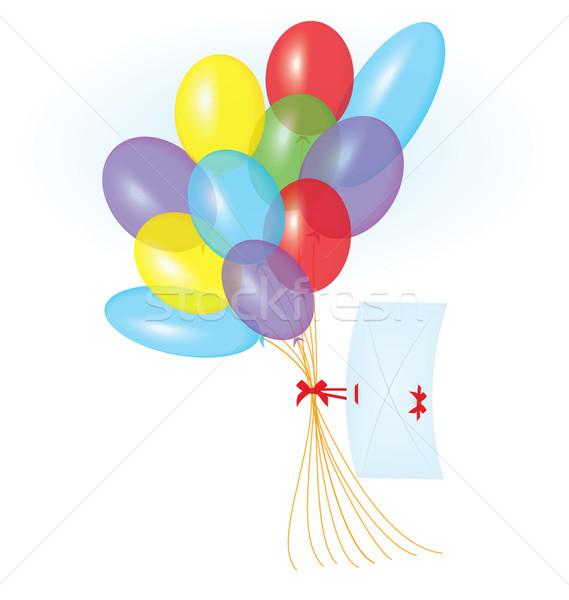 şerit mektup balonlar vektör renkli uçan Stok fotoğraf © Zebra-Finch