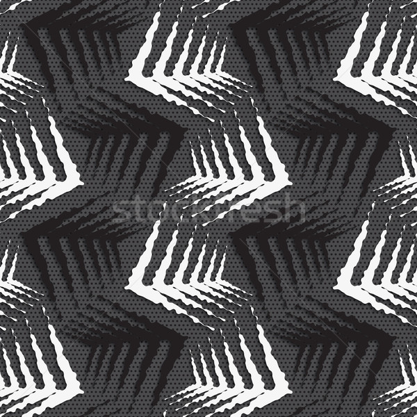 Mértani dísz feketefehér durva formák végtelenített Stock fotó © Zebra-Finch