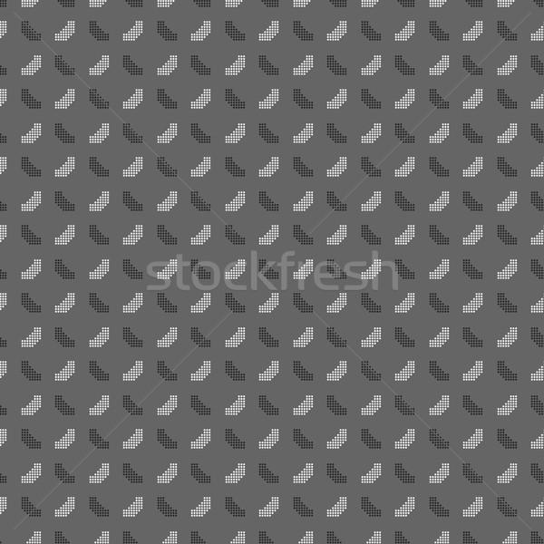 In bianco e nero pattern punteggiata forme piazze senza soluzione di continuità Foto d'archivio © Zebra-Finch